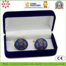 High Quality Velvet Cufflink Box with Custom Logo