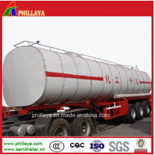 Sales Promotion 3axle Naoh/Caustic Soda Semi Trailer Chemical Tanker