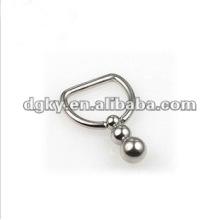 Reizvoller Edelstahlnippelringnippelkörper, der Schmucksachen piercing ist