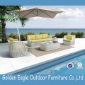 L Shaped Sofa Outdoor Synthetic Rattan Furniture