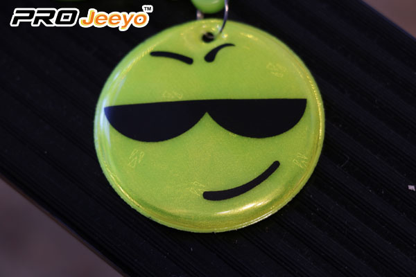 Reflective Smile Keychain With D Shap Hook Rv 101 1