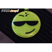 Reflective Smile Keychain With D Shap Hook