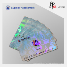 Heat Laminate PVC Card Hologram Overlay Film
