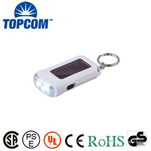 2 LED solar powered flashlight key ring solar keychain 2 LED torch