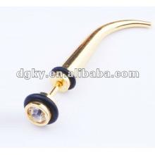 Acier inoxydable gros faux cors de l'oreille piercing