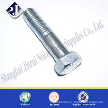 Ts16949 DIN933 Grado 8.8 Tornillo hexagonal de rosca parcial