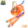 New Customized Ratchet Tie Down Strap With Metal Hooks