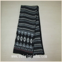 boys jacquard knit scarf with fleece lining