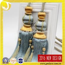 Nuevo diseño y venta al por mayor Tieon Rayon cortina borla para la decoración