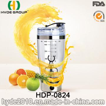 2016 caliente venta USB populares agitador eléctrico plástico botella de agua, botella de la coctelera BPA libre proteína eléctrico (HDP-0824)