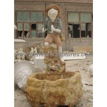 Fontaine d'eau intérieure avec fontaine de marbre en pierre (SY-F317)