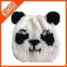 wholesale cheap cute custom knitted panda beanie
