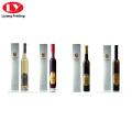 Rotgold Heißprägung einzelne Weinflaschenbox