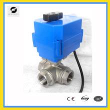 CTF-001 robinet à tournant sphérique motorisé en plastique de plein port de 2 manières pour le contrôle automatique, traitement de l'eau