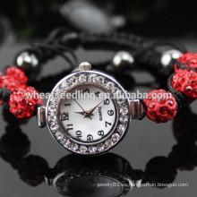 Reloj bling bling de cristal blanco al por mayor de Shamballa