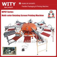 Máquina automática de impresión de pantalla giratoria textil