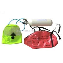 Dispositivo de respiração do escape da emergência de 2.2 / 3L THDF EEBD com o cilindro da fibra do carbono