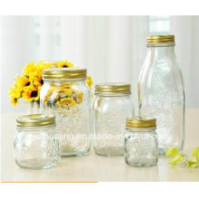 5oz 8oz 16oz 33oz Engraved Airless Food Storage Glass Jar