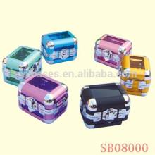 alumínio de caixa de exposição de único relógio de luxo com fabricante de opções de cores diferentes