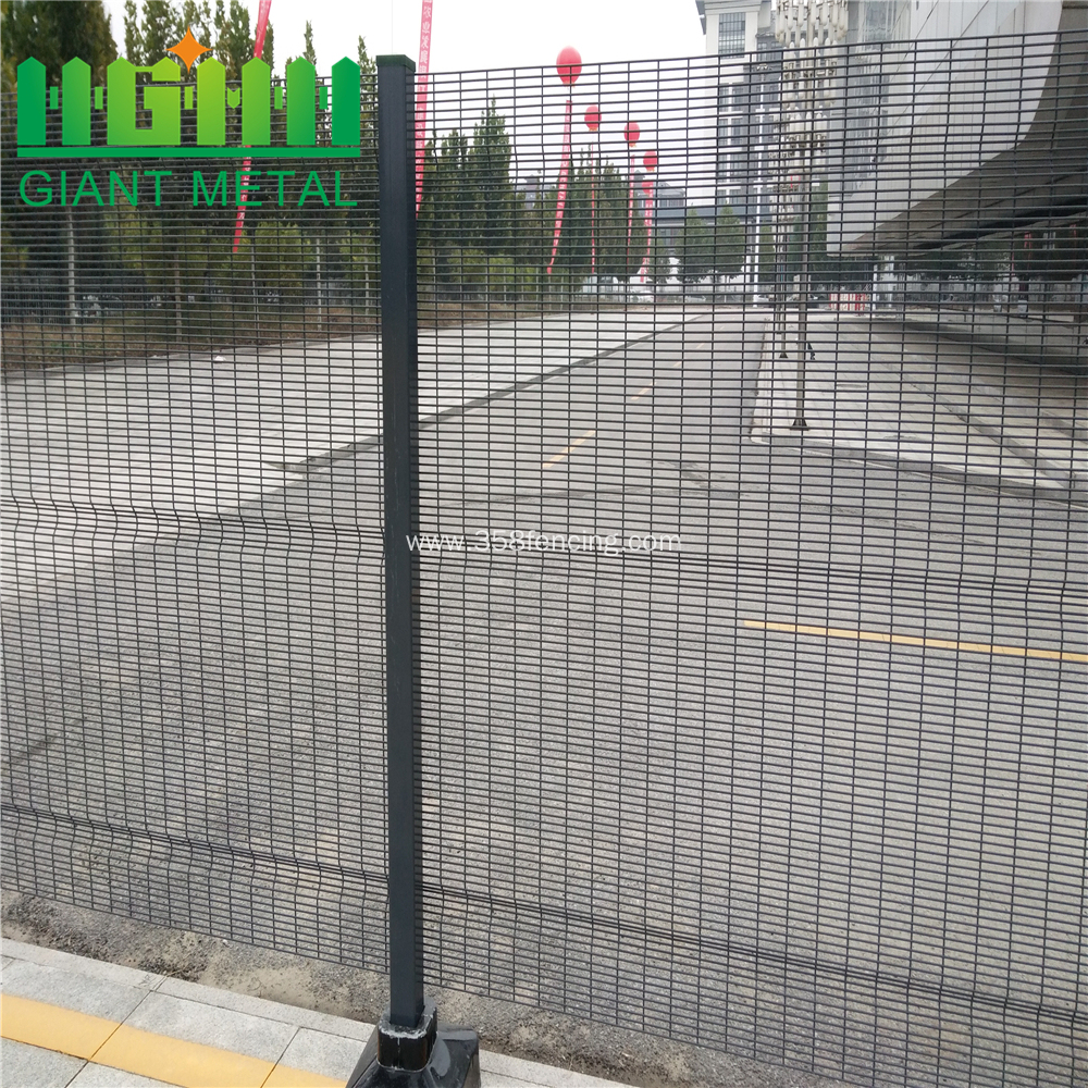 358 Security Welded Wire Mesh Accordion Fence China Manufacturer