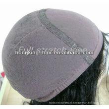 En gros 100% indien Remy cheveux Lace Front perruque pour les femmes noires
