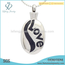 Love stainless steel cremation pendant ,cremation urn jewelry