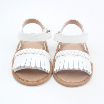 Reka bentuk baru Moccasins Cute Baby Sandal Girl Leather