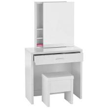 Melamine paper Hidden Mirror Storage White Vanity Set mirrored dresser