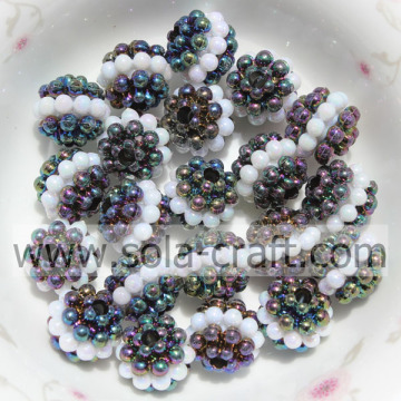Black Color Factory Price Transparent Acrylic Little Berry Beads 10MM