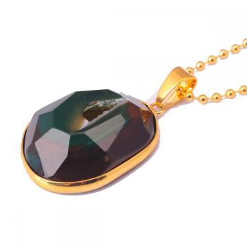 New Design Agate meaningful pendant necklace