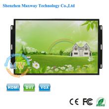 TFT color 26 pulgadas monitor LCD montaje abierto montaje a ras HDMI con grado industrial caso de metal