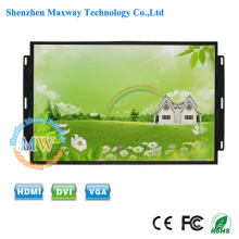 TFT color 26 inch LCD monitor open frame flush mount HDMI with metal case industrial grade