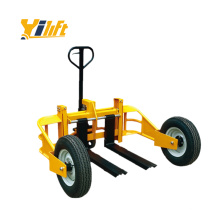 1250kg all terrain rough outdoor adjustable truck mounted hand pallet stacker