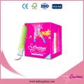 Venda al por mayor mini / regular / super / super más tampones compactos orgánicos para las mujeres
