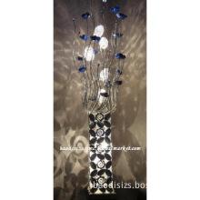Elegance Aluminum Floor Lamp in Flower Vase Design