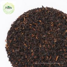 Finch amincissant la poussière de thé noir avec le paquet en vrac