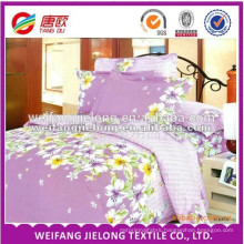 printed polycotton bed sheet fabric