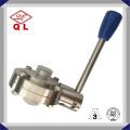 Acero inoxidable 304 316L Sanitary Tri Clamp Válvula de mariposa por el manual