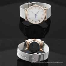Yxl-643 OEM ODM Armbanduhr Männer Quarzwerk Bewegung Classic Mesh Band Uhr
