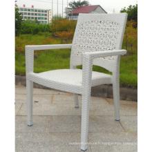 Chaise de rotin de PE de Patio extérieur aluminium Frame