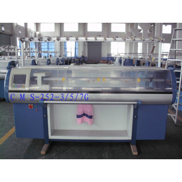 3/5/7 Gauge Double-System Computerized Flat Knitting Machine with Comb System