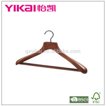 Brown color wooden coat hanger