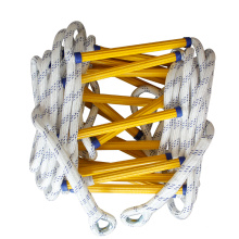 adult wooden rope marine  climbing rope ladder nylon  folding emergency ladder safety Rescue soft  fire escape rope ladder