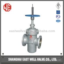 Cast steel double disc flat plate gate valve