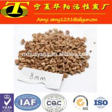 Gránulo de la cáscara de la nuez de 0.8-1.6mm para la perforación petrolífera (separación del fango)