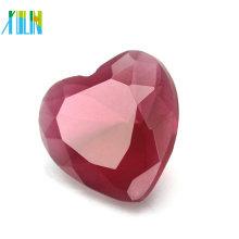 2018 à la mode bijoux AB couleur verre cristal grand coeur pendentif en vrac CP136