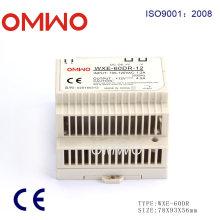 Fonte de alimentação plástica do trilho do RUÍDO de Shell Wxe-60dr-12 do ABS, fonte de alimentação 12V