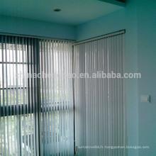 Panneaux en aluminium à coupe aveugle verticaux stores insonorisés