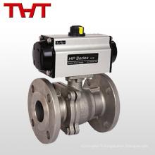 fabricants de robinets à tournant sphérique en acier inoxydable à commande pneumatique