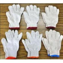 Guantes de trabajo de algodón hechos punto baratos para la protección de la mano